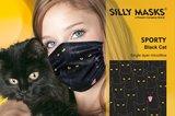 Silly Masks Sporty - Black cat_