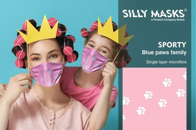 Silly Masks Sporty - Silly paws (Pink)