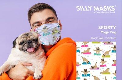Silly Masks Sporty - Yoga pug