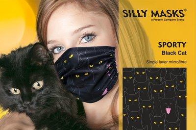 Silly Masks Sporty - Black cat