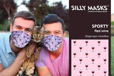 Silly Masks Sporty - Red wine