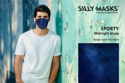 Silly Masks Sporty - Midnight blues