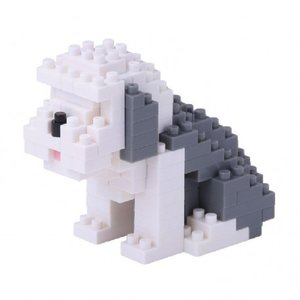 Nanoblock Dog - Old English sheepdog