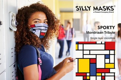 Silly Masks Sporty - Mondriaan tribute