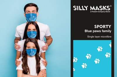 Silly Masks Sporty - Silly paws (Blue)