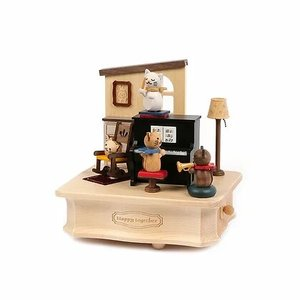Wooderful Life Music Box – Kitty Cat Living Room Concert