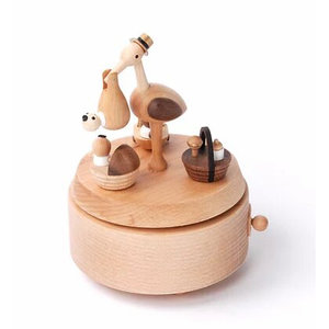 Wooderful Life Music Box – Baby Stork Delivery
