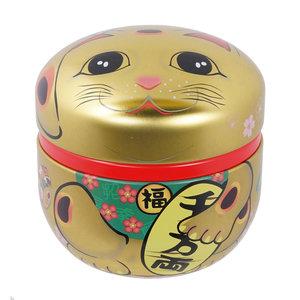 Tea Box - Lucky Cat Gold